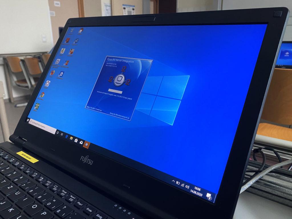 opsi Installationsdialog auf Laptop